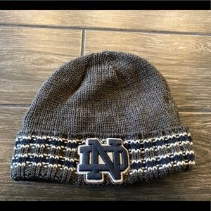Forty Seven Brand Notre Dame Knit Beanie in Gray